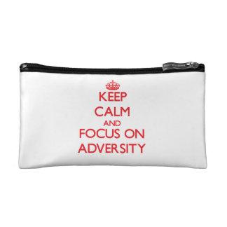 Keep calm and focus on ADVERSITY Makeup Bag