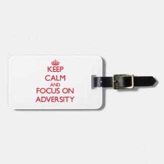 Keep calm and focus on ADVERSITY Luggage Tag