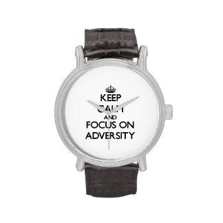 Keep Calm And Focus On Adversity Wrist Watch