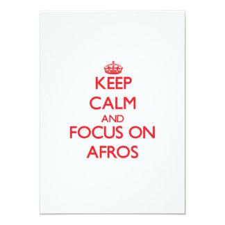 Keep Calm and focus on Afros 13 Cm X 18 Cm Invitation Card
