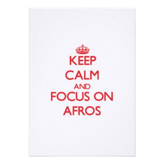Keep Calm and focus on Afros Custom Invites