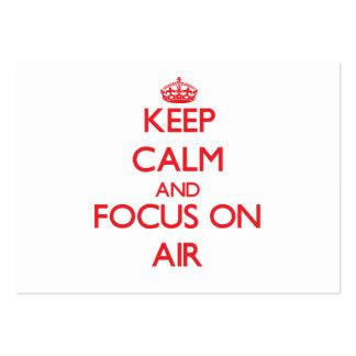 Keep calm and focus on AIR Business Card