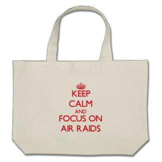 Keep calm and focus on AIR RAIDS Tote Bag
