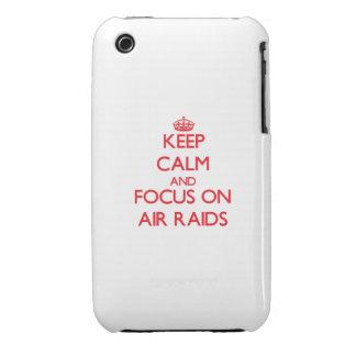 Keep calm and focus on AIR RAIDS iPhone 3 Case