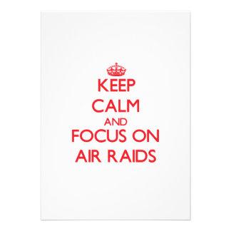 Keep calm and focus on AIR RAIDS Custom Invitations