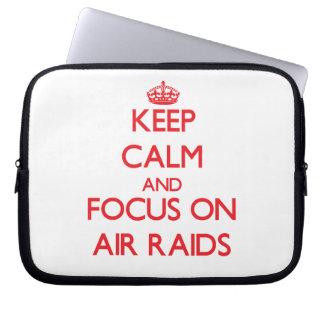 Keep calm and focus on AIR RAIDS Laptop Sleeve