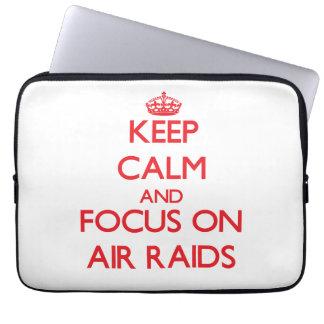 Keep calm and focus on AIR RAIDS Laptop Sleeves