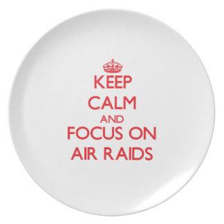 Keep calm and focus on AIR RAIDS Plate
