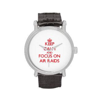 Keep calm and focus on AIR RAIDS Wrist Watch