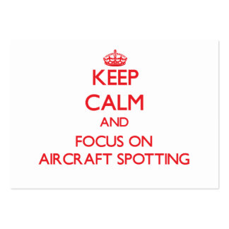 Keep calm and focus on Aircraft Spotting Business Card Template