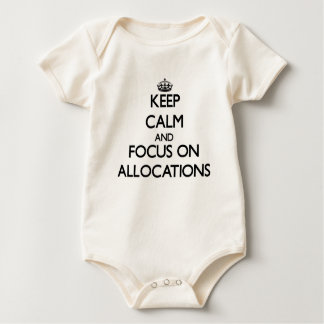 Keep Calm And Focus On Allocations Baby Bodysuit
