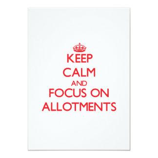 Keep calm and focus on ALLOTMENTS Custom Announcement