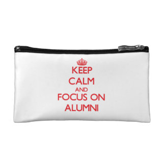 Keep calm and focus on ALUMNI Cosmetic Bags