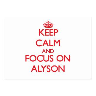 Keep Calm and focus on Alyson Pack Of Chubby Business Cards