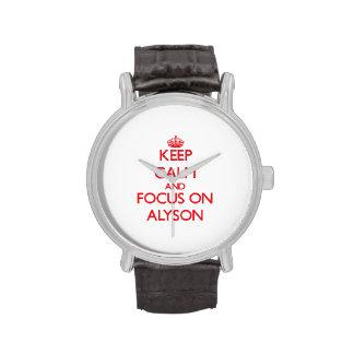 Keep Calm and focus on Alyson Wrist Watch