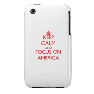 Keep calm and focus on AMERICA iPhone 3 Cover