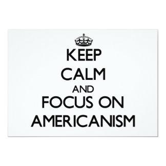 Keep Calm And Focus On Americanism 13 Cm X 18 Cm Invitation Card
