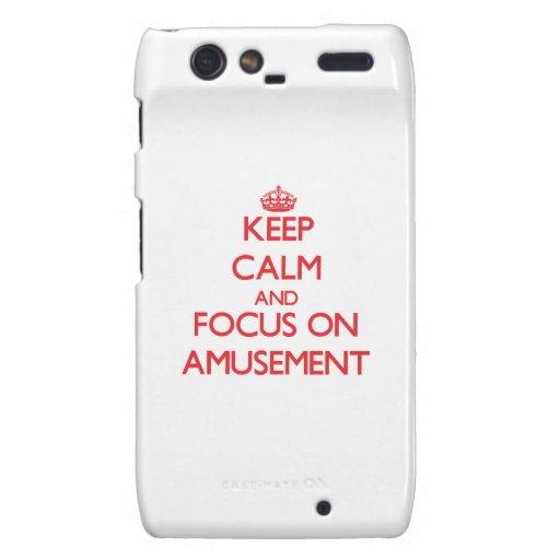 Keep calm and focus on AMUSEMENT Motorola Droid RAZR Cover