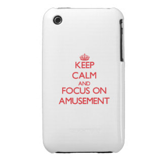 Keep calm and focus on AMUSEMENT iPhone 3 Cover