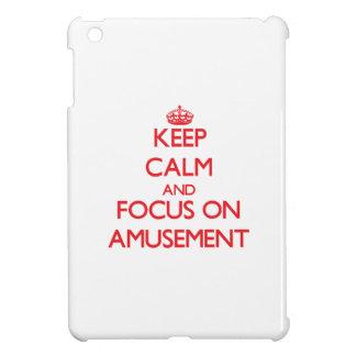 Keep calm and focus on AMUSEMENT iPad Mini Cover