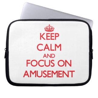 Keep calm and focus on AMUSEMENT Laptop Computer Sleeve