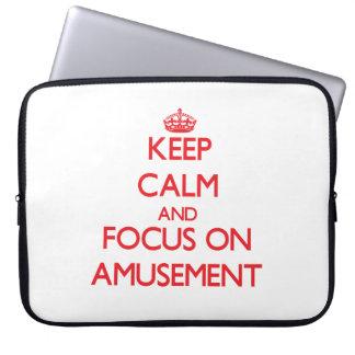 Keep calm and focus on AMUSEMENT Computer Sleeve