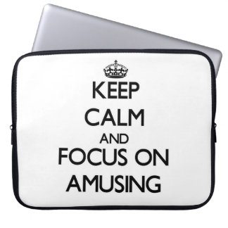 Keep Calm And Focus On Amusing Computer Sleeves