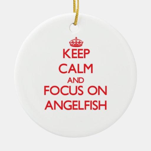 Keep Calm and focus on Angelfish Christmas Tree Ornaments