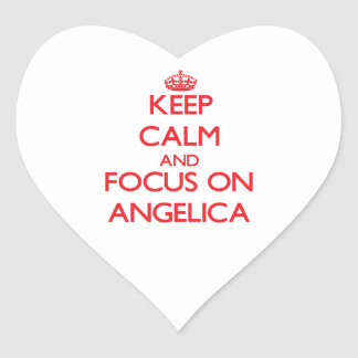 Keep Calm and focus on Angelica Heart Sticker