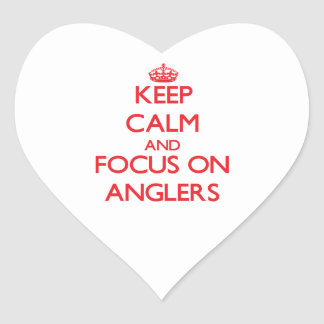 Keep calm and focus on ANGLERS Sticker