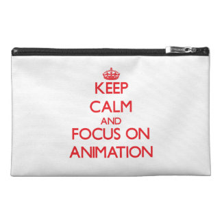Keep calm and focus on Animation Travel Accessory Bag