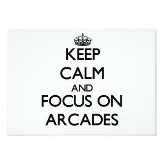 Keep Calm And Focus On Arcades Invites