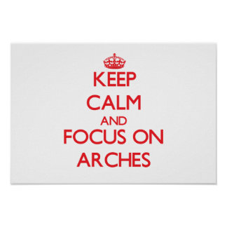 Keep calm and focus on ARCHES Poster