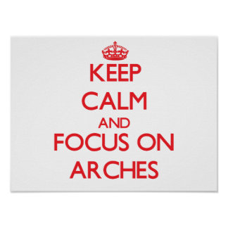 Keep calm and focus on ARCHES Posters