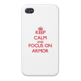 Keep calm and focus on ARMOR Case For iPhone 4