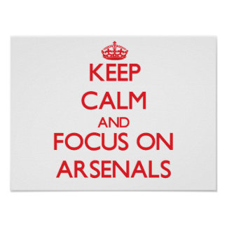 Keep calm and focus on ARSENALS Posters