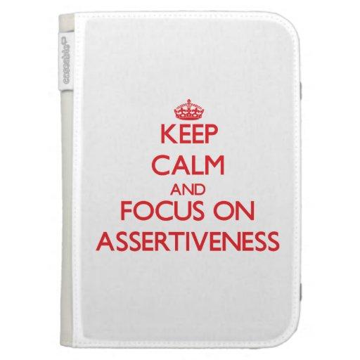 Keep calm and focus on ASSERTIVENESS Kindle Folio Case