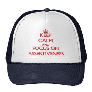 Keep calm and focus on ASSERTIVENESS Trucker Hats
