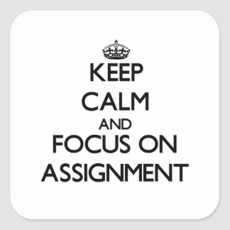 Keep Calm And Focus On Assignment Sticker