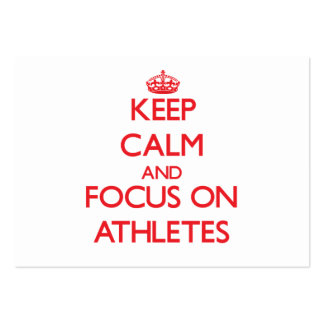 Keep calm and focus on ATHLETES Business Card Templates