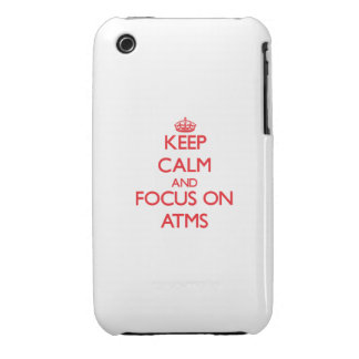 Keep calm and focus on ATMS Case-Mate iPhone 3 Case