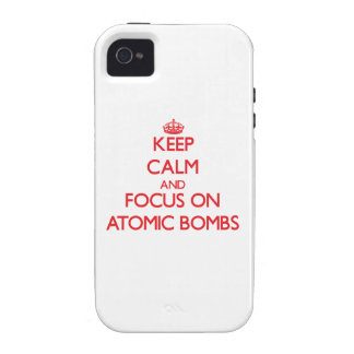 Keep calm and focus on ATOMIC BOMBS Case-Mate iPhone 4 Cover