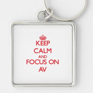 Keep calm and focus on AV Keychain