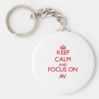 Keep calm and focus on AV Keychains