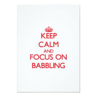 Keep Calm and focus on Babbling 13 Cm X 18 Cm Invitation Card