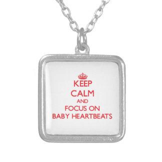Keep Calm and focus on Baby Heartbeats Custom Jewelry