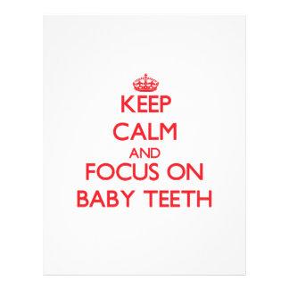 Keep Calm and focus on Baby Teeth Flyers