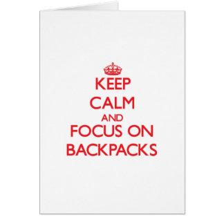 Keep Calm and focus on Backpacks Card