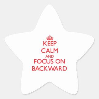 Keep Calm and focus on Backward Star Sticker