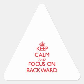 Keep Calm and focus on Backward Triangle Sticker